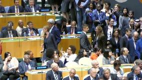 John Kerry na assembleia geral de United Nations filme