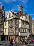 John Knox House, Edinburgh. The John Knox House in the Cannongate area of the Royal Mile in Edinburgh, Scotland Stock Photography