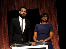 John Krasinski and Cheryl Boone Isaacs Stock Photography