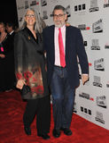 John Landis. & wife at the 2011 American Cinematheque Gala where actor Robert Downey Jr. was honored with the 25th Annual American Cinematheque Award at the Royalty Free Stock Photos