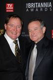John Lasseter, Robin Williams Royalty-vrije Stock Fotografie
