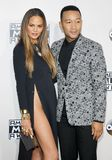 John Legend and Chrissy Teigen. At the 2016 American Music Awards held at the Microsoft Theater in Los Angeles, USA on November 20, 2016 royalty free stock photos