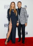 John Legend and Chrissy Teigen. At the 2016 American Music Awards held at the Microsoft Theater in Los Angeles, USA on November 20, 2016 stock photos