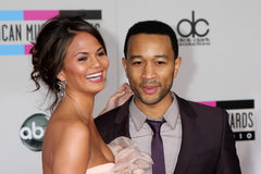 John Legend,Christine Teigen Stock Image