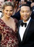 John Legend och Chrissy Teigen royaltyfri fotografi