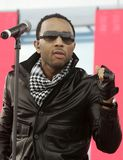 John Legend performs in concert. At the Tailgate 2009 fan zone prior to Super Bowl XLIII featuring the Arizona Cardinals vs. the Pittsburgh Steelers at Raymond stock image