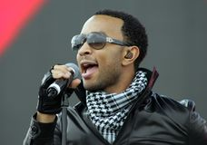John Legend performs in concert. At the Tailgate 2009 fan zone prior to Super Bowl XLIII featuring the Arizona Cardinals vs. the Pittsburgh Steelers at Raymond royalty free stock photography