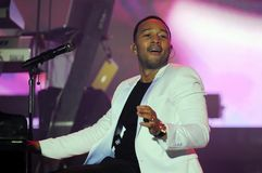 John Legend. Rio de Janeiro, September 20, 2015, Singer John Legend, during his show at Rock in Rio 2015 in the city of Rio de Janeiro, Brazil stock photography
