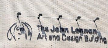 John Lennon Art and Design Building. Stock Photo