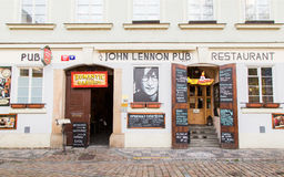 John Lennon-bar in Praag royalty-vrije stock fotografie
