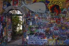 John Lennon ściana Obrazy Royalty Free