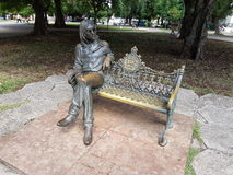 John Lennon in der Bronze Stockfotografie