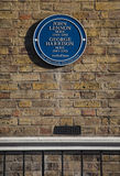 John Lennon and George Harrison Blue Plaque in London Royalty Free Stock Image