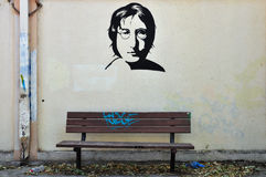 John lennon graffiti Royalty Free Stock Photography
