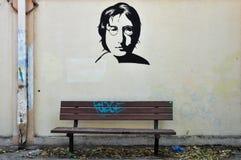 John lennon graffiti Royalty Free Stock Photography