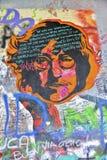 John Lennon Graffiti op Kampa-Eiland, Praag, Royalty-vrije Stock Fotografie