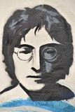 John Lennon grafitti på John Lennon Wall Prague Fotografering för Bildbyråer