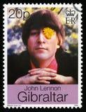 John Lennon Postage Stamp foto de stock