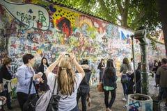 john lennon Prague ściana Obraz Stock