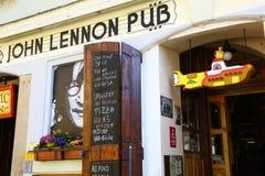 John Lennon pub w Praga Obrazy Royalty Free