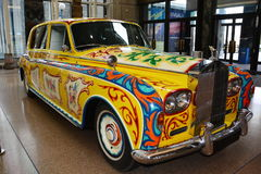 John Lennon's Rolls Royce. The Royal BC museum in Victoria BC has John Lennon's psychedelic Rolls Royce in the entrance way for all to see when they visit.Come royalty free stock image