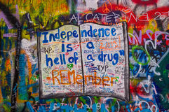 John lennon's wall 4 Royalty Free Stock Photo