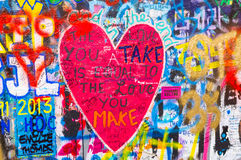 John lennon's wall 5 Royalty Free Stock Photo