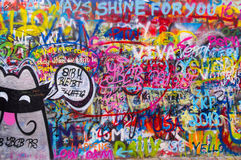 John lennon's wall 7 Stock Images