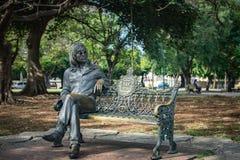 John Lennon Sits on a Park Bench in Havana, Cuba Stock Photography