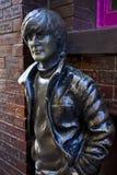 John Lennon Statue in Liverpool Stock Afbeelding