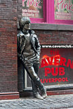 John Lennon statue in Mathew Street, Liverpool, UK Stock Image