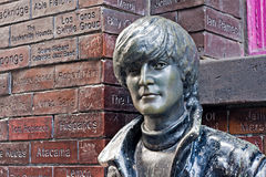 John Lennon statue in Mathew Street, Liverpool, UK Stock Photos