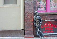 John Lennon statue outside The Cavern Club Royalty Free Stock Photo