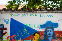 John Lennon Wall à Prague Photos stock