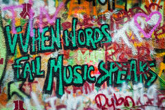 John Lennon Wall à Prague Photo libre de droits
