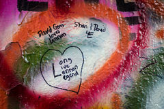 John Lennon Wall à Prague Photo stock