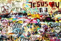 John Lennon Wall Stock Afbeeldingen