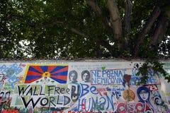 John Lennon Wall Imagen de archivo libre de regalías