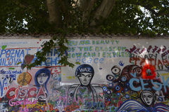 John Lennon Wall Fotos de archivo libres de regalías