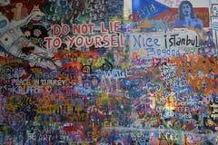 John Lennon Wall Imágenes de archivo libres de regalías