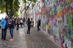 John Lennon Wall royalty-vrije stock foto's