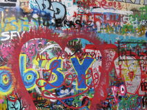John Lennon Wall Stock Images