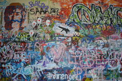 John Lennon Wall in Prag, Tschechische Republik Stockbild