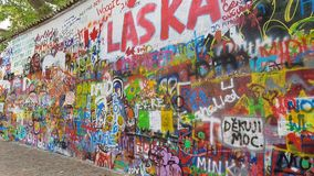 John lennon wall praga Royalty Free Stock Photo