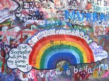 John Lennon Wall, Prague. John Lennon Wall in Prague Stock Images
