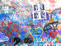 John Lennon Wall, Prague. John Lennon Wall in Prague Stock Photos