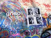 John Lennon Wall, Prague. John Lennon Wall in Prague Royalty Free Stock Images