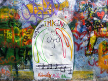 John Lennon Wall, Prague Stock Images