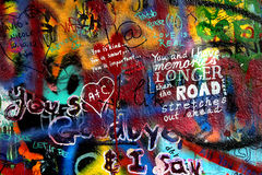 John Lennon wall in Prague Stock Photography