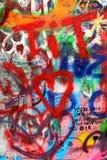 John Lennon wall in Prague Royalty Free Stock Photo